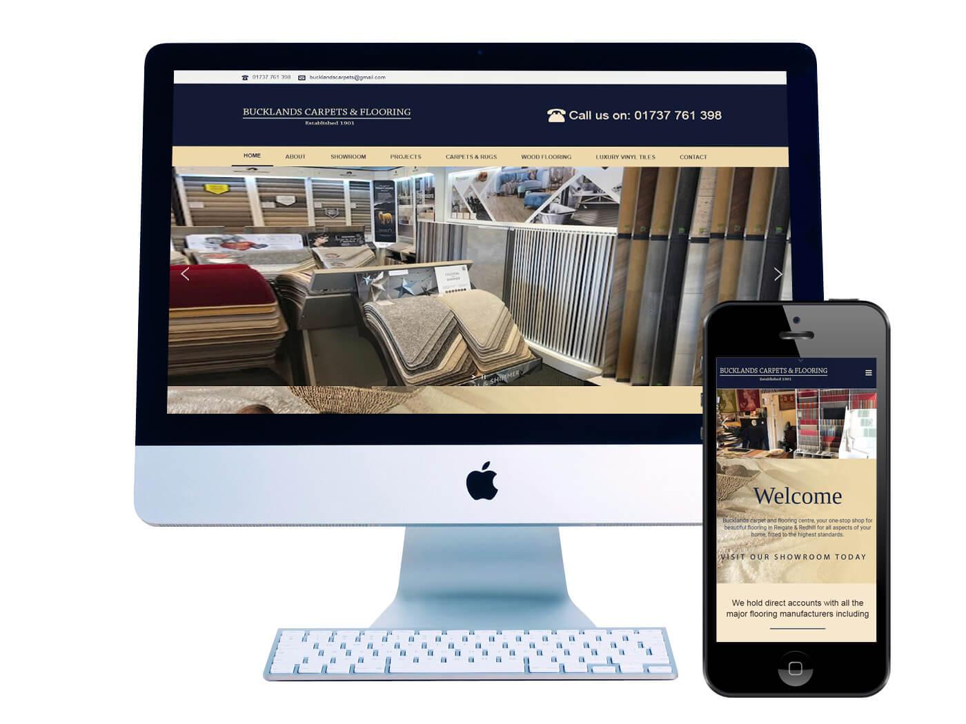Bucklands Carpets & Flooring - Website Design Redhill