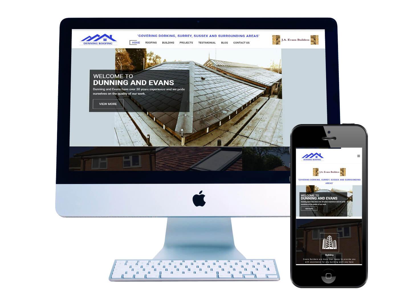 Dunning Roofing- Website Design Dorking