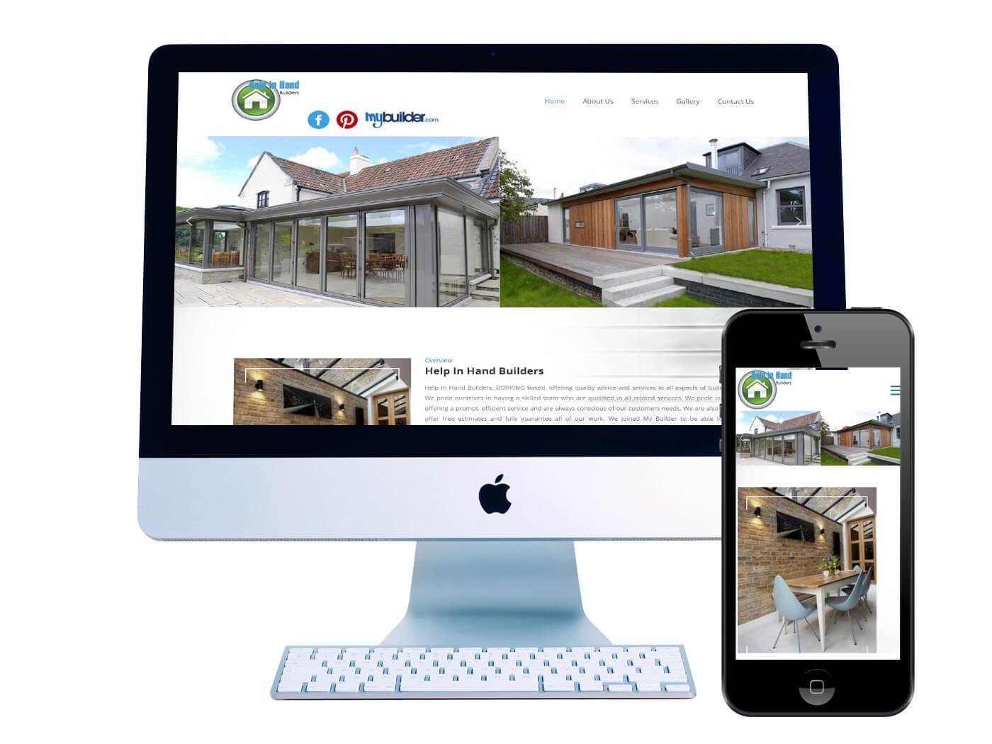 Help in Hand Builders - Website Design Dorking