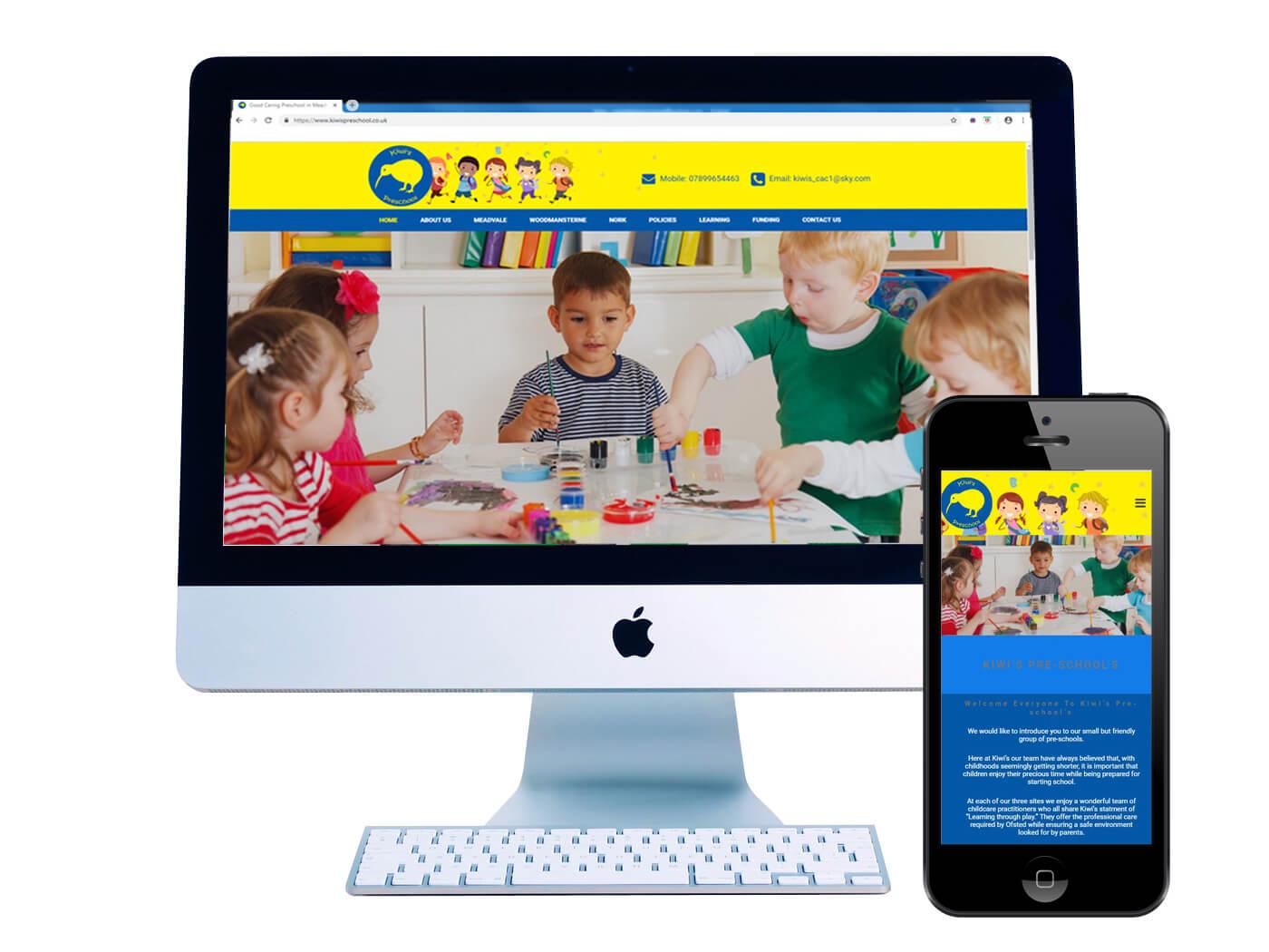 Kiwis Pre Schools - Website Design Surrey