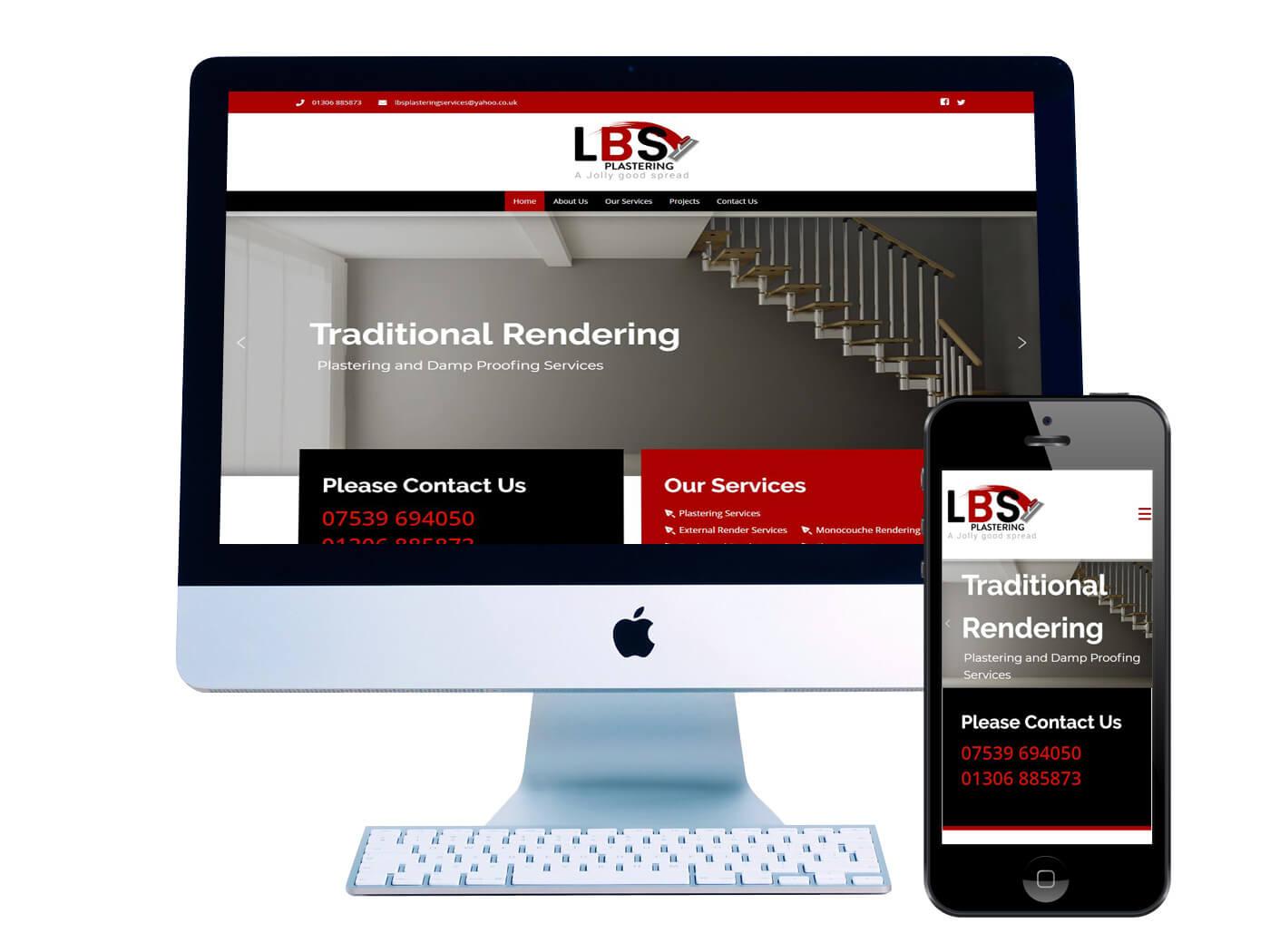LBS Plastering - Website Design Surrey