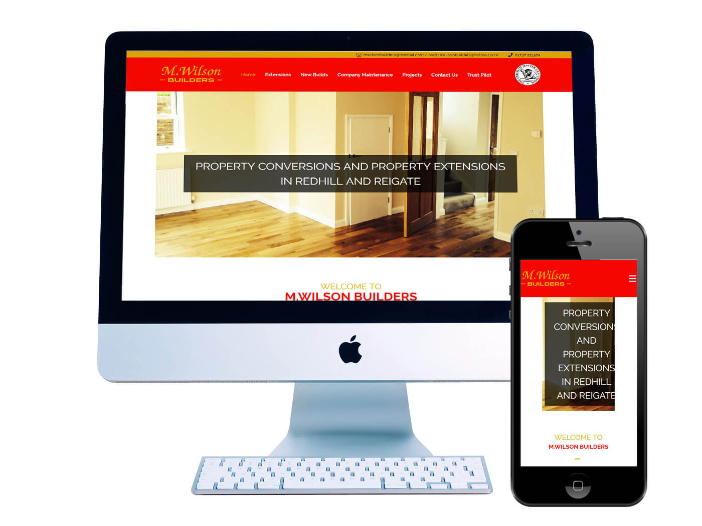 M Wilson Builders - Website Design Reigate