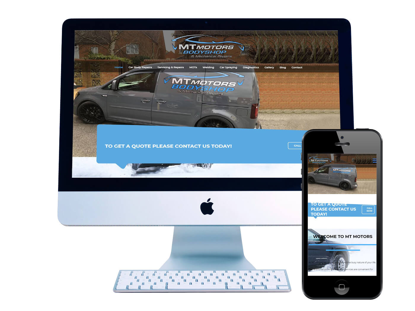 MT-Motors-Bodyshop- Website Design Tadworth