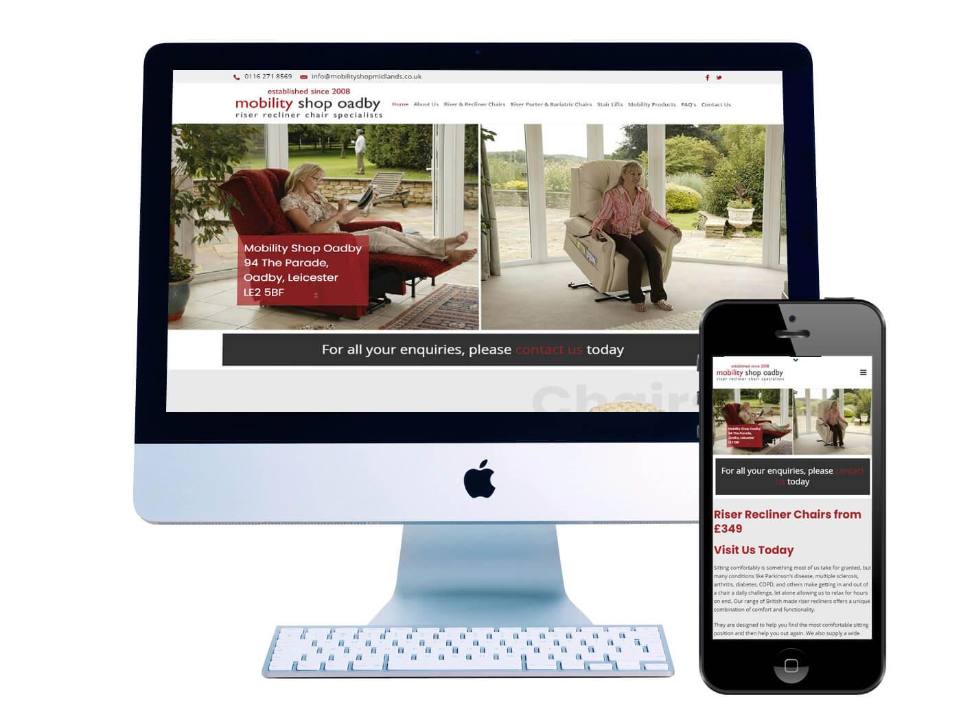 Mobility Shop - Website Design Oadby