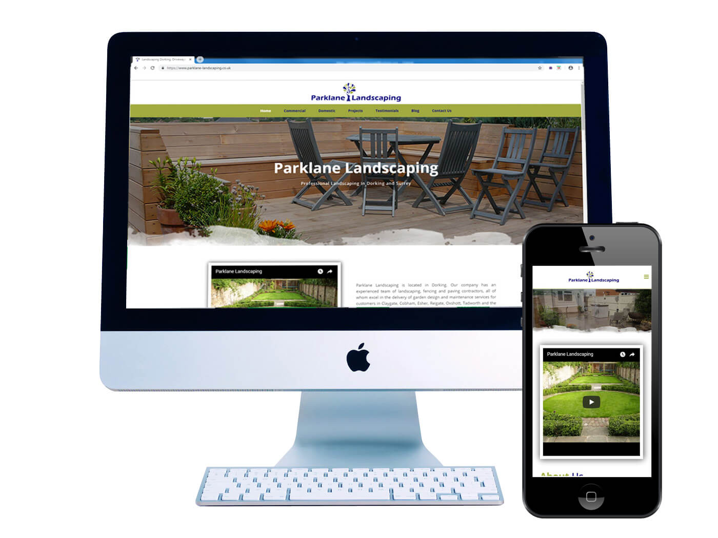 Parklane Landscaping- Website Design Dorking