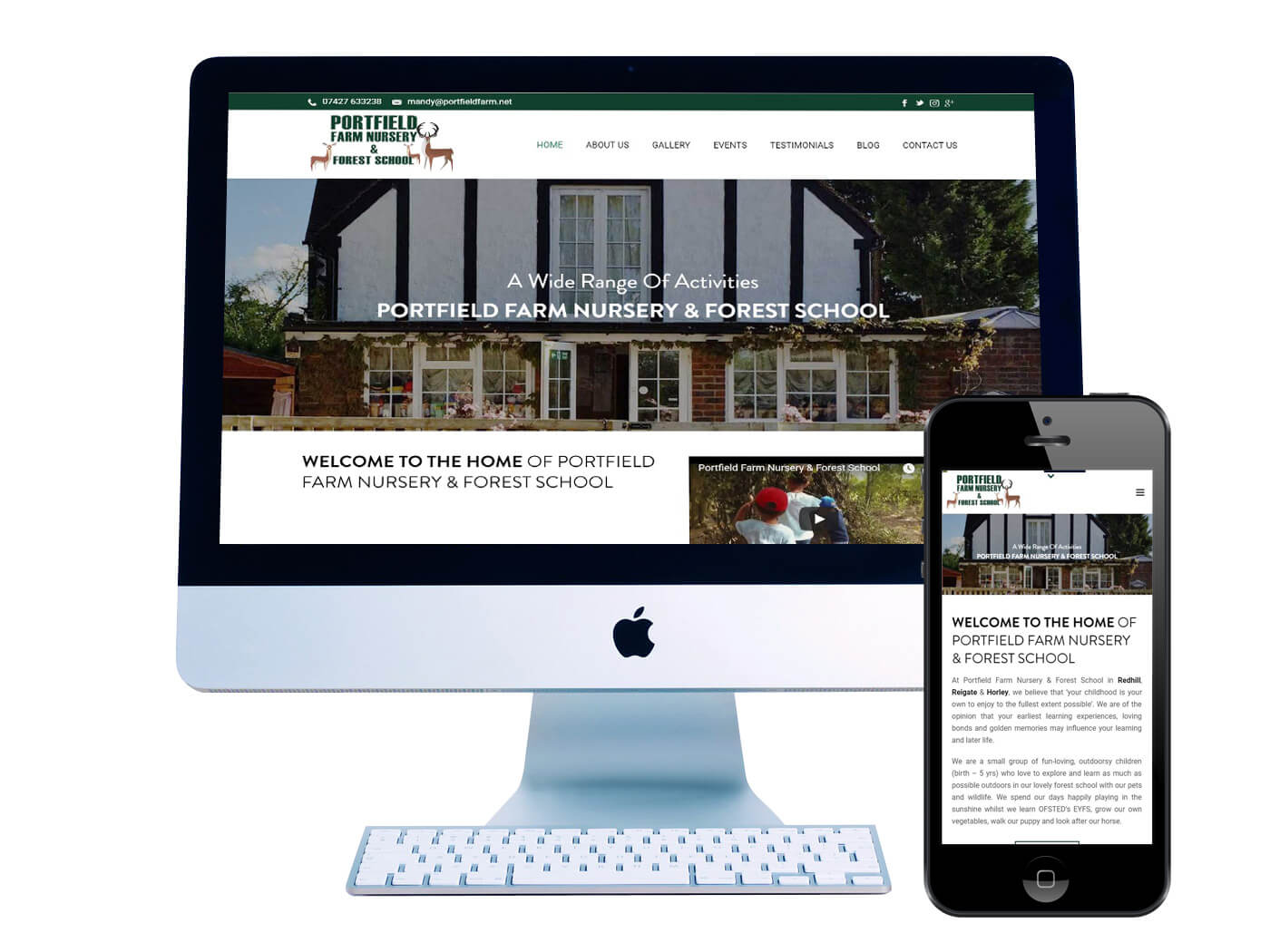 Portfield Farm - Website Design Redhill