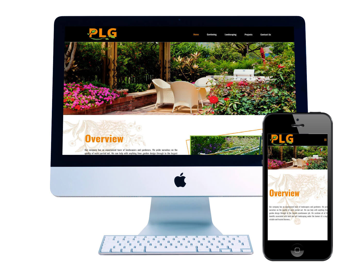 Potterton Landscaping- Website Design Dorking