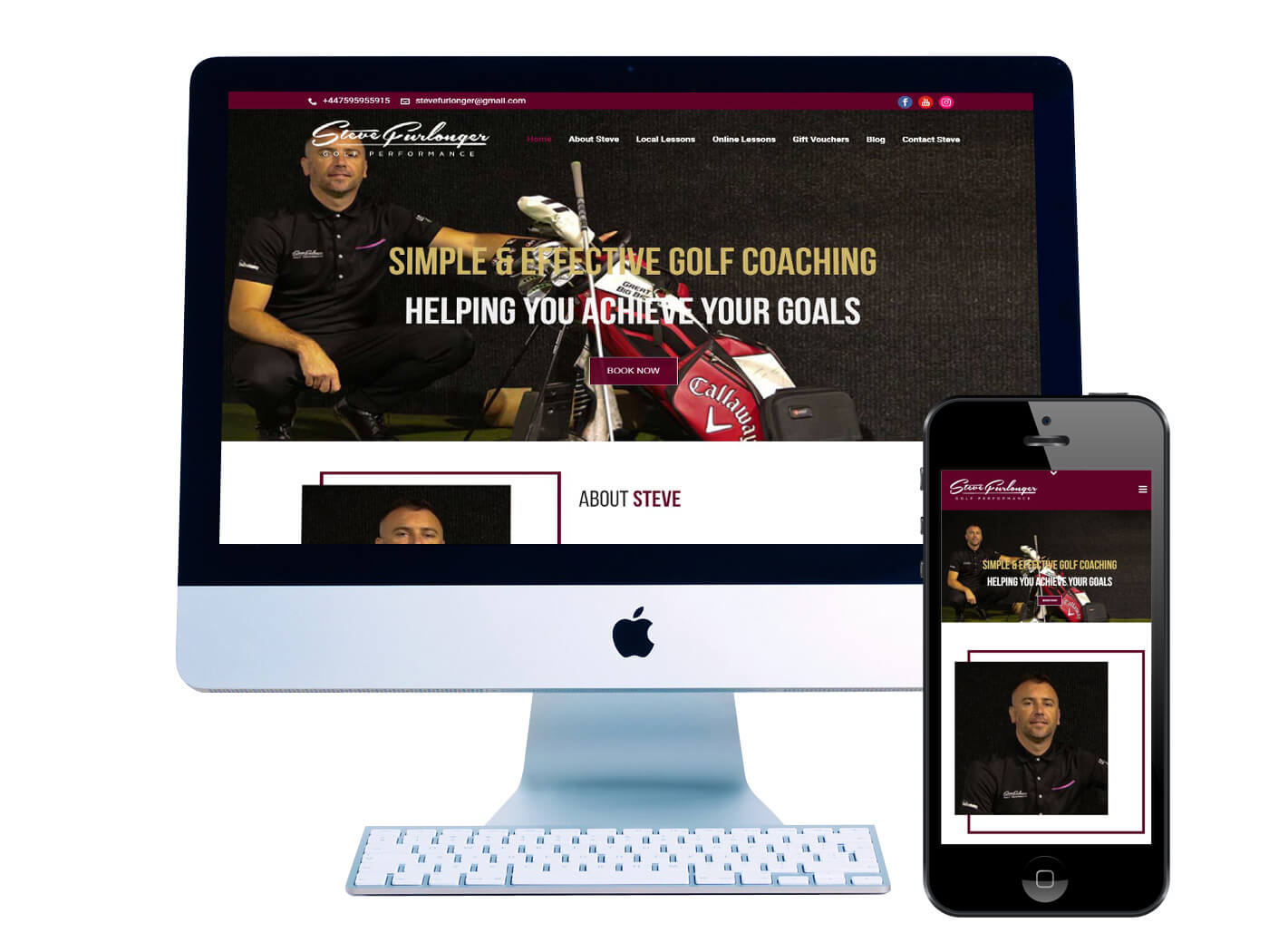 Steve Furlonger Golf - Website Design Redhill