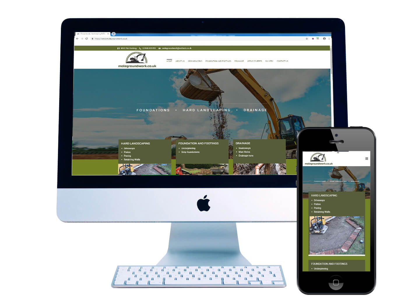 Mole Groundworks - Website Design Dorking