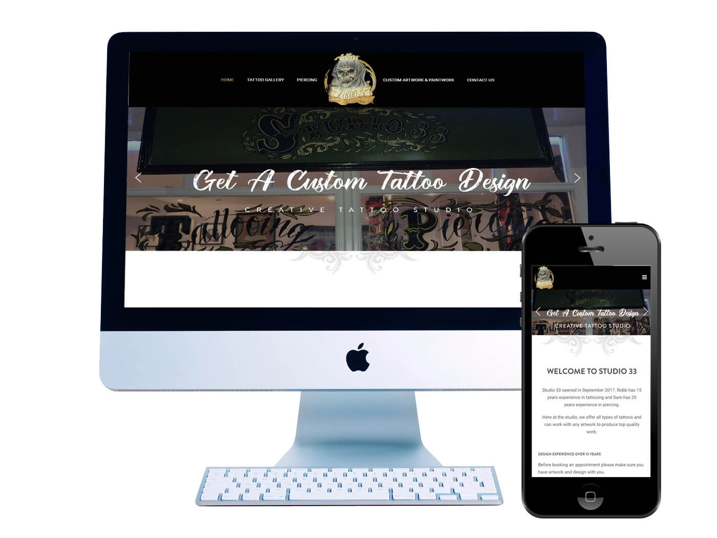 Studio 33 Tattoo Studio - Website design Dorking