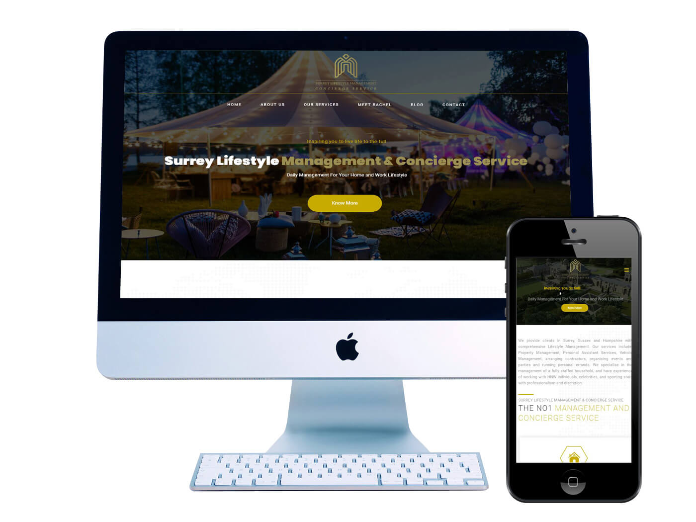 Surrey Lifestyle Management - Website Design Dorking